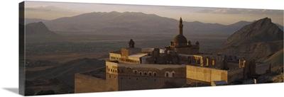 High angle view of a palace, Ishak Pasha Palace, Dogubeyazit, Turkey