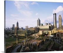 High angle view of a park, Centennial Olympic Park, Atlanta, Georgia