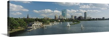 High angle view of a river, Charles River, Boston, Massachusetts