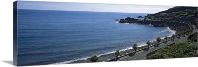 High angle view of a road along the coast, Seixal, Madeira, Portugal