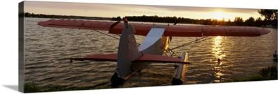 High angle view of a sea plane, Lake Spenard, Anchorage, Alaska