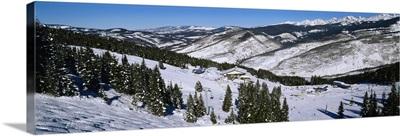 High angle view of a ski resort, Vail Ski Resort, Vail, Colorado