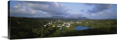 High angle view of a town, Republic of Ireland