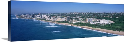 High angle view of buildings at the beachfront, Umhlanga, KwaZulu-Natal, Durban, South Africa