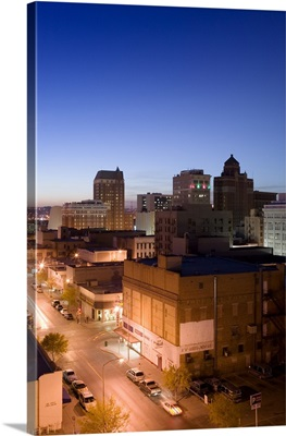 High angle view of buildings in a city, El Paso, Texas