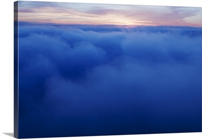 High angle view of heavy fog in Mississippi River Valley, John A. Latsch State Park, Minnesota