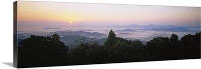 High angle view of mountains, Rockfish Gap, Blue Ridge Mountains, Virginia