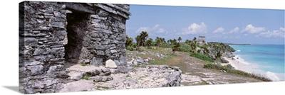 High angle view of the beach, Tulum, Yucatan Peninsula, Mexico