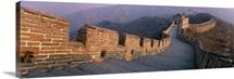 High angle view of the Great Wall Of China, Mutianyu, China