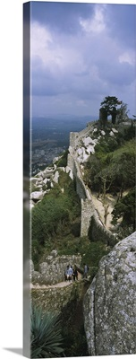 High angle view of the old ruins of a castle, Castelo Dos Mouros, Sintra, Estremadura, Portugal