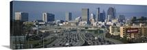 High angle view of traffic on a highway, Atlanta, Georgia