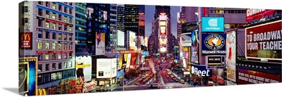 High angle view of traffic on a road, Times Square, Manhattan, New York City, New York State