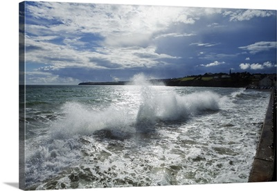 High Winds and Waves in the Bay, Tramore, County Waterford, Ireland