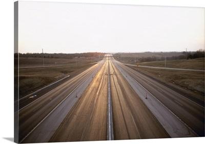 Highway passing through a landscape, Kansas Turnpike, Interstate 70, Shawnee County, Kansas