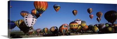 Hot air balloons floating in sky, Albuquerque International Balloon Fiesta, Albuquerque, Bernalillo County, New Mexico,
