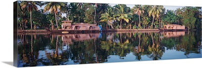 Houseboats on water, Kerala, India