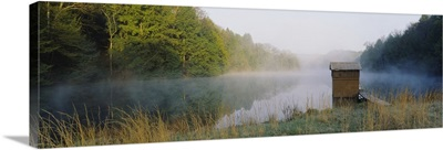 Hut in a lake, Lake Katherine, Ohio