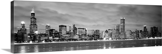 Chicago Skyline Wall Art illinois, chicago, skyline wall art, canvas prints, framed prints