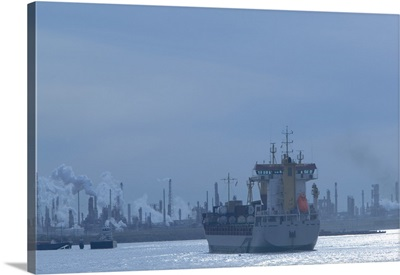 Industrial ship at a port, Port Of Houston, La Porte, Houston, Texas