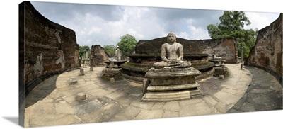 Interior of Polonnaruwa Vatadage Polonnaruwa, North Central Province, Sri Lanka