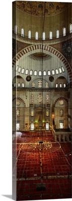 Interior Suleymaniye Mosque Istanbul Turkey