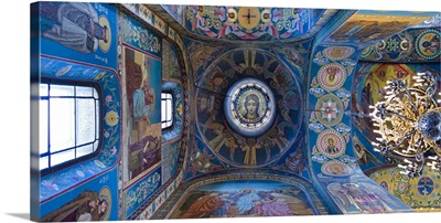 Interiors of a church, Church of The Savior On Spilled Blood, St. Petersburg, Russia