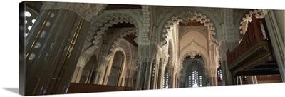 Interiors of a mosque, Hassan II Mosque, Casablanca, Morocco