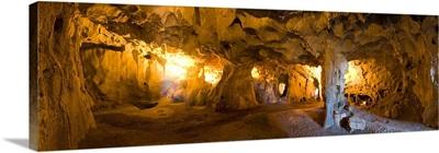 Interiors of a prehistoric cave, Karain Cave, Ciglik, Antalya, Turkey