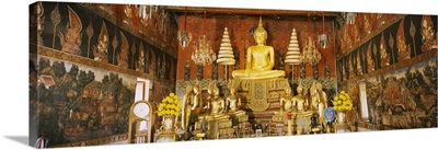 Interiors of a temple, Wat Suwandararam, Ayuthaya, Thailand