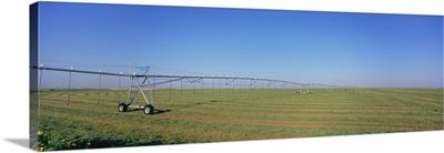 Irrigation in an alfalfa field, Haskell County, Kansas