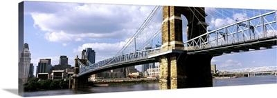 John A. Roebling Suspension Bridge across the Ohio River, Cincinnati, Ohio