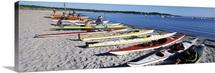 Kayaks on the beach Third Beach Sakonnet River Middletown Newport County Rhode Island