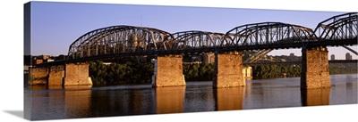 Kentucky, Covington, Ohio River, L & N Bridge, Bridge over the river