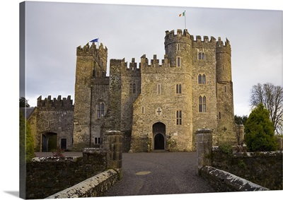 Kilkea Castle Hotel, Built 1180 by Hugh de Lacey, Kilkea, Co Kildare, Ireland