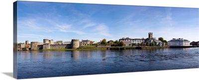 King Johns Castle and Riverside Buildings, River Shannon, Limerick City, Ireland