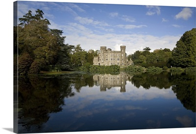 Lake and 19th Century Gothic Revival Johnstown Castle, Co Wexford, Ireland