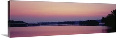 Lake at dusk, Kentucky