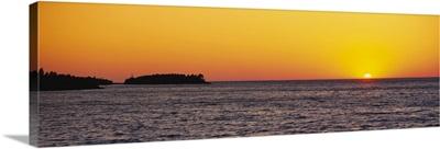 Lake at sunset, Upper Peninsula, Lake Superior, Michigan