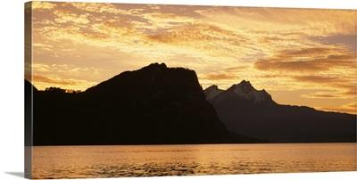 Lake Vierwaldstattersee Canton Lucerne Switzerland