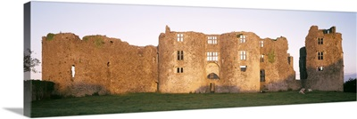 Lawn in front of a landscape, Roscommon Castle, Roscommon County, Republic Of Ireland