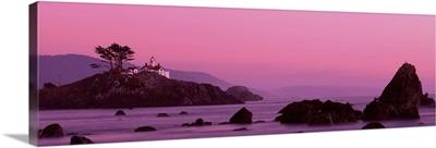 Light house at sunset Crescent City CA