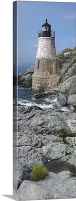 Lighthouse along the sea, Castle Hill Lighthouse, Narraganset Bay, Newport, Rhode Island