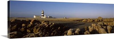 Lighthouse on the beach, Cape Recife Lighthouse, Port Elizabeth, Eastern Cape Province, South Africa