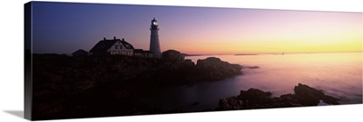 Lighthouse on the coast, Portland Head Lighthouse, Cape Elizabeth, Cumberland County, Maine,