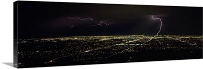 Lightning in the sky over a city, Phoenix, Maricopa County, Arizona