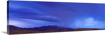 Lightning Storm over Four Peaks Mountain Central AZ