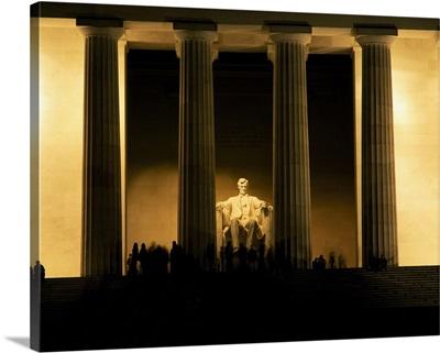 Lincoln Memorial illuminated at night, Washington DC
