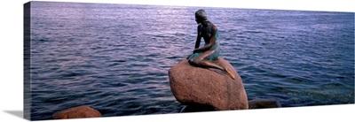 Little Mermaid Statue on Waterfront Copenhagen Denmark