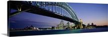 Low angle view of a bridge, Sydney Harbor Bridge, Sydney, New South Wales, Australia