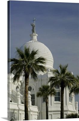 Low angle view of a church, Sacred Heart Catholic Church, Galveston, Texas